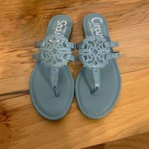 Sam Edelman Circus Cherri sandals in slate blue 10
